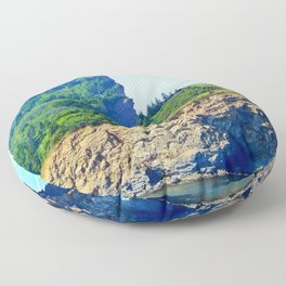 Cliffs of Perce Floor Pillow