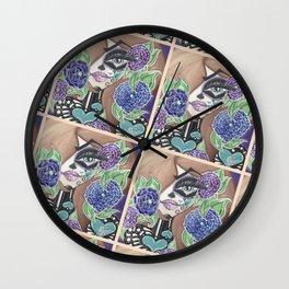 Sugar Skull Woman Wall Clock