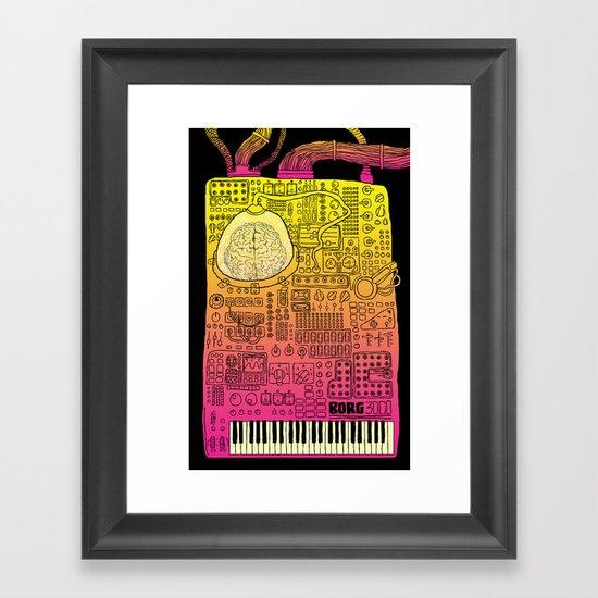 Borg 3000: ANALOG  Framed Art Print