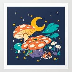 Goodnight Plume Art Print