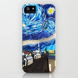 Tardis Art Starry City Night iPhone Case