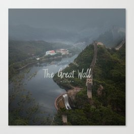 A different view of The Great Wall of China Canvas Print