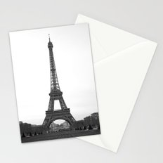 Eiffel Tower in black and white Stationery Cards