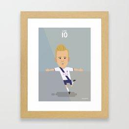 The Tens   Harry Kane - Tottenham Hotspur Framed Art Print