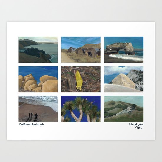 California Postcards Art Print
