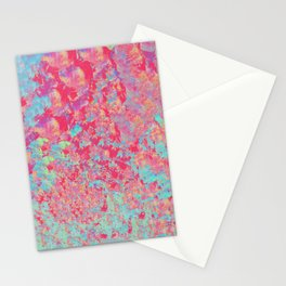 Pink a Blue Abstract Paintng Stationery Cards