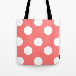 Pink polka Tote Bag