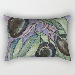 Greek olive branch in watercolor Rectangular Pillow