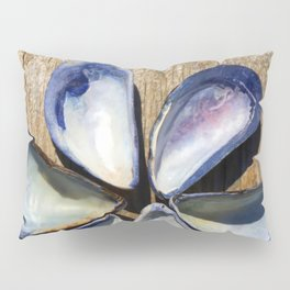 Blue and White Sea Shell Flower | Nadia Bonello Pillow Sham