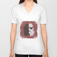 storm trooper V-neck T-shirts featuring Storm Trooper by R. Cuddi