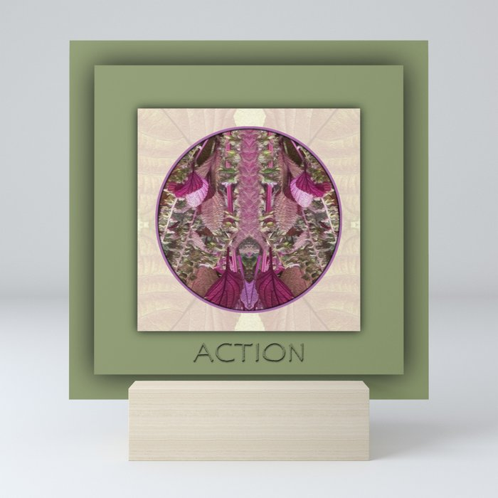 Action Manifestation Mandala No. 4 Mini Art Print