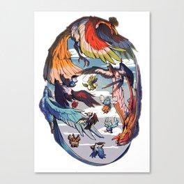 Pokebirds Canvas Print