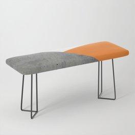 Concrete Tangerine White Bench