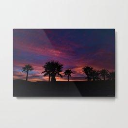 Palm Sunset - 7 Metal Print