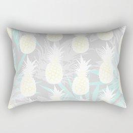 Elegant Pineapple Tropical Beach Pattern Rectangular Pillow
