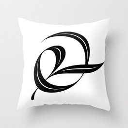 Swash ampersand Throw Pillow
