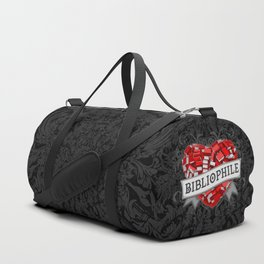 Bibliophile Heart Duffle Bag