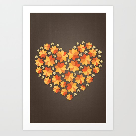 Denim Heart Art Print