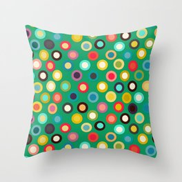 green pop spot Throw Pillow