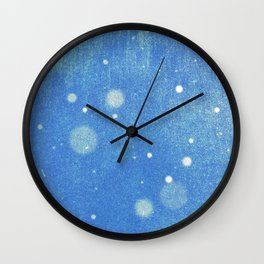 Vintage snow and blue sky Wall Clock
