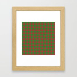 Accident, Medium Carmine on Forest Green Ungulate Plaid Framed Art Print
