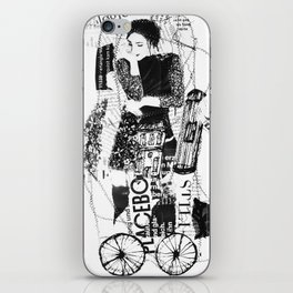 thinking-transport iPhone Skin