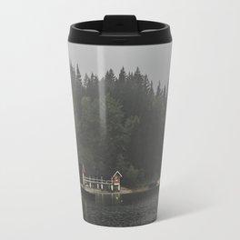 Foggy mornings at the lake II - landscape photography Travel Mug