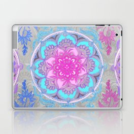 Pink, Purple and Turquoise Super Boho Doodle Medallions Laptop & iPad Skin