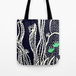 Cactus 72 black green Tote Bag