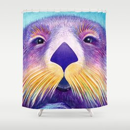 Otter Face to Face Shower Curtain