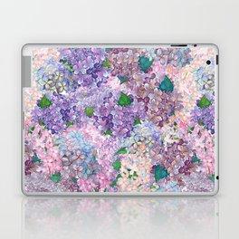 Purple and blue Lilac & Hydrangea - Flower Design Laptop & iPad Skin