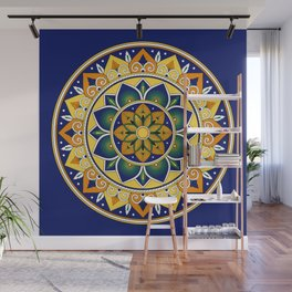 Italian Tile Pattern – Peacock motifs majolica from Deruta Wall Mural
