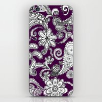 burgundy iPhone & iPod Skins featuring Burgundy by Marcela Caraballo