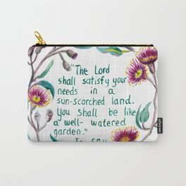 Isaiah 58:11 Carry-All Pouch