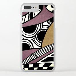 Dusty Purple Clear iPhone Case