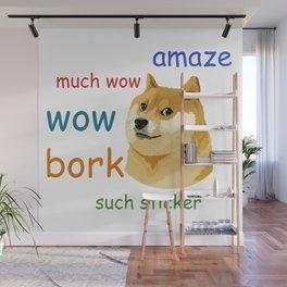 Doge Meme Wall Mural