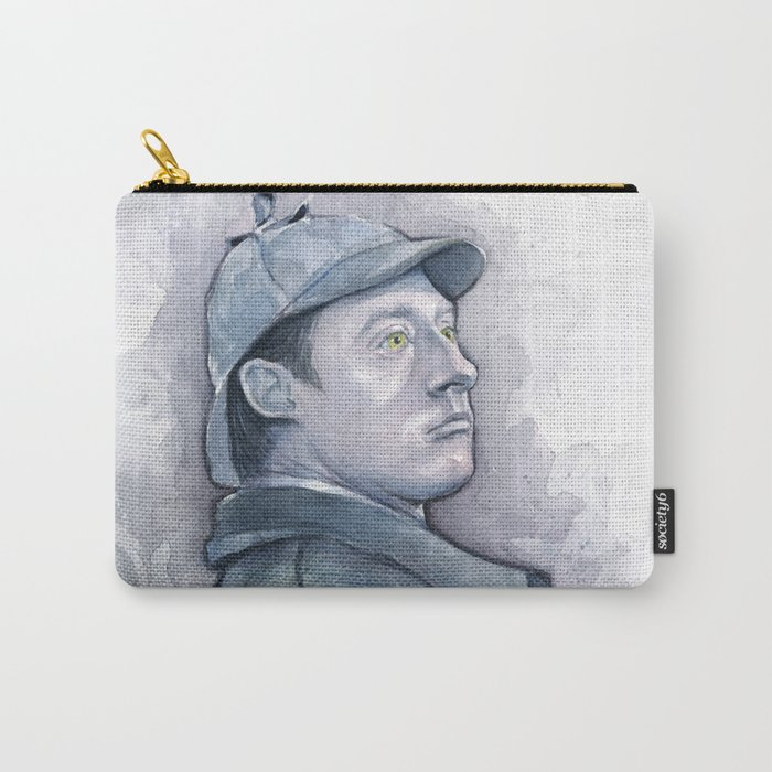 Data as Sherlock Holmes Watercolor TNG Portrait Carry-All Pouch
