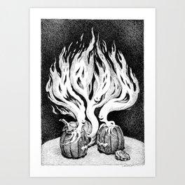 Halloween Escape Art Print