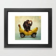 Chimp my Ride Framed Art Print