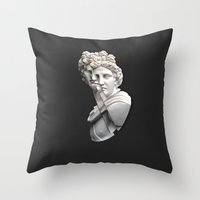apollo Throw Pillows featuring Apollo by Taz Hove