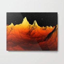 Sci Fi Mountains Landscape Metal Print