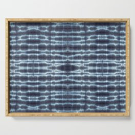 Linen Shibori Stripes Serving Tray