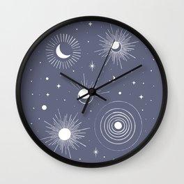 My Moon, my Stars Wall Clock