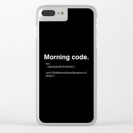 Morning Code Clear iPhone Case
