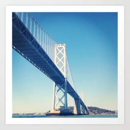south side, bay bridge Art Print