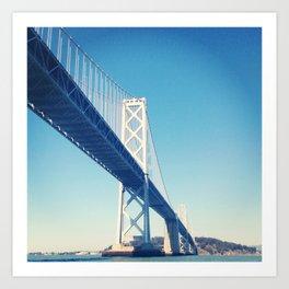 south side, bay bridge Art Print