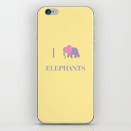 I Heart Elephants iPhone Skin