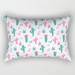 Cactus Pattern Fun Rectangular Pillow