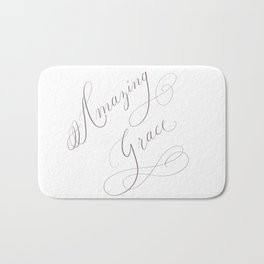 Amazing Grace / Calligraphy / Christian song Bath Mat