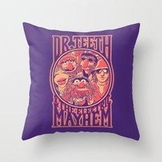 Electric Mayhem Throw Pillow